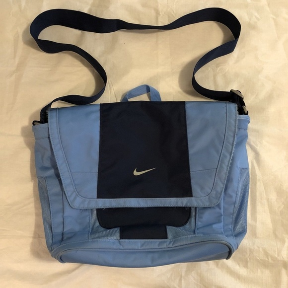 15b5c90bf3d Nike Bags   Laptop Messenger Bag Blue Shoulder Strap   Poshmark